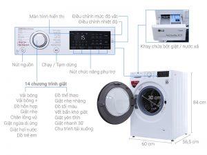 Máy giặt LG inverter FC1408S4W2