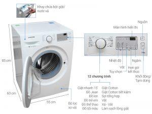 Máy giặt Samsung inverter WW75J4233KW:SV