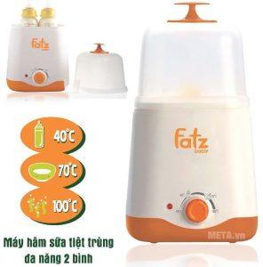 Máy hâm sữa Fatzbaby FB3011SL 2 bình