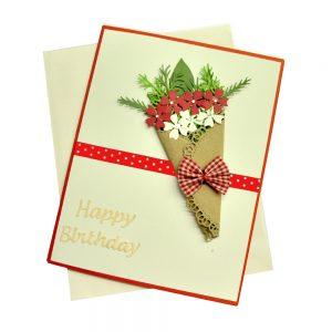 Thiệp sinh nhật Bó hoa Latin Handmade