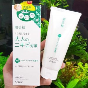 Sữa rửa mặt trị mụn và thâm mụn Kracie Hadabisei Facial Wash