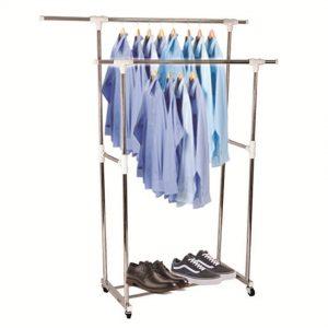 Giàn phơi quần áo đôi di động inox cao cấp Prota