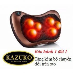 Gối massage hồng ngoại Kazuko 6 bi