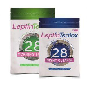 Combo trà giảm cân Leptin Teatox sáng và đêm