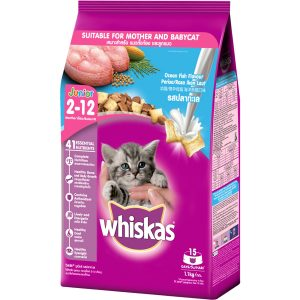 Đồ ăn cho mèo con Whiskas Vị Cá Biển và Sữa dạng túi 1.1kg