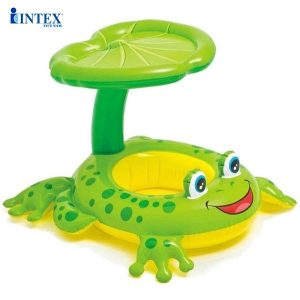 Phao bơi cho bé hình ếch xanh có mái che Intex 56584
