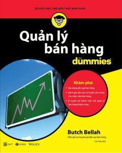 """Quyển sách """"Quản lý bán hàng For Dummies"""""""