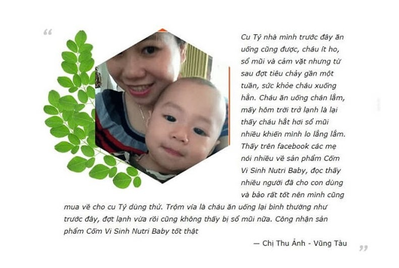 review Cốm vi sinh Nutribaby